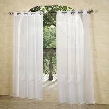 White Curtain Panel White Grommet Curtain Panels Affordable Modern Home Decor