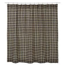 amazon com vhc brands burlap black check shower curtain 72x72 amazon com vhc brands burlap black check shower curtain 72x72 home kitchen