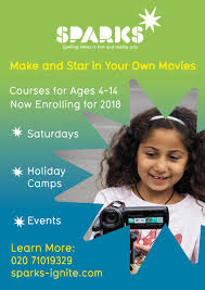 sparks film and media activities for kids in london