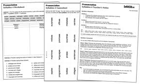 pronunciation worksheets english club incl game sheet teacher