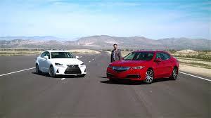 lexus sedan differences 2017 acura tlx vs 2017 lexus is 250 u2013 video review comparison