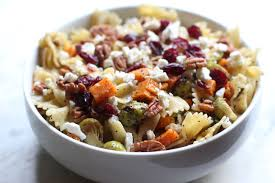 thanksgiving hop side dish pasta salad in the