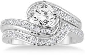 bridal ring set 1 1 2 carat diamond bridal ring set in 14k white gold