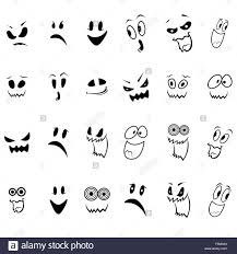 halloween background ghosts set of twenty four ghosts faces outline with various characters