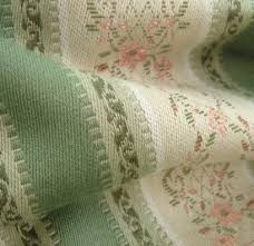 Wool Drapery Fabric 7 5 Yards Beautiful Embroidered Rose Floral Lisere Stripe