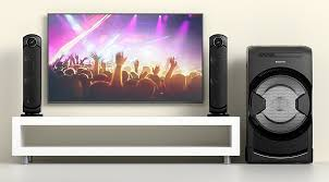 sony home theater system with bluetooth sony mhcgt4d mini hi fi system with led party speakers and