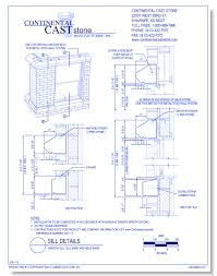 Window Sill Detail Cad Ccs Application Details Continental Cast Stone Inc Caddetails