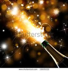 closeup chagne explosion celebration theme stock photo