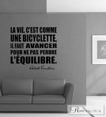 albert einstein quote bicyclette bicycle french wall decal vinyl albert einstein quote bicyclette bicycle french wall decal vinyl sticker francais home decor french quote wall saying wall art