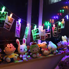 decoration lights for party battery powered 10 led photo clip string christmas holiday lights