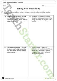 patterns and algebra worksheets year 2 teaching resource u2013 teach