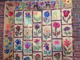 flower garden quilt pattern flower garden applique portsmouth fabric co