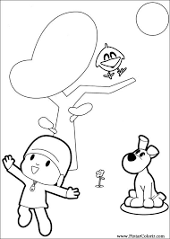 drawings paint u0026 colour pocoyo print design 006