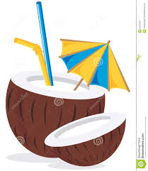 mixed drink clipart coconut cocktail drink stock vector image of natural 24042251