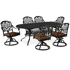 7 Piece Aluminum Patio Dining Set - amazon com home styles floral blossom 7 piece dining table