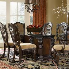 Double Pedestal Dining Table Fairmont Designs Grand Estates Pedestal Glass Dinner Table Dream