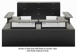 Two Person Reception Desk Person Custom U Shaped Reception Desk