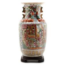 Chinese Hand Painted Porcelain Vases Chinese Hand Painted Porcelain Vase Ebth