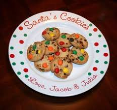 santa boots cookies for santa plate personalized christmas