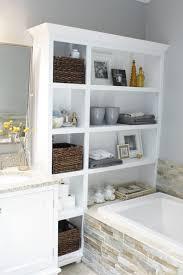 clever bathroom storage ideas white pink colors wooden vanity wall mirror diy bathroom storage