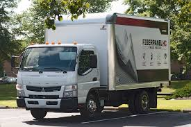 mitsubishi fuso box truck body option cuts 1 000 lbs from mitsubishi fuso canter fe130