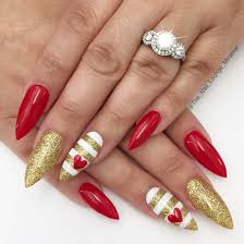 stiletto hearts valentine u0027s day nail art design valentine nails
