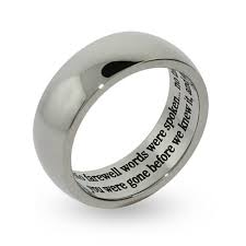 personalized engraved rings engravable stainless steel bereavement prayer ring farewell words
