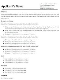 simple resume format free in ms word simple resume template free basic resume templates free