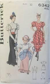 Butterick Halloween Costume Patterns Butterick Costume Pattern 5800 6 18 French Maid U0026 Vampire