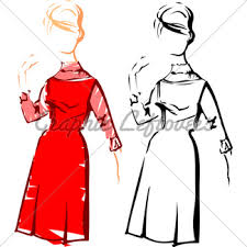 cute modern fashion sketch side view gl stock images