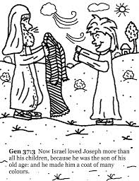 84 coloring pages for joseph and the coat of many colors