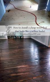how to install an inexpensive wood floor do it yourself pine