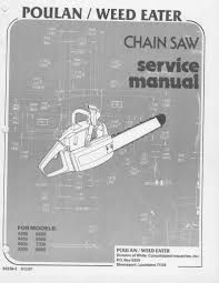 poulan 4200 8500 chainsaw workshop downloadable pdf service and