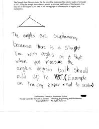 Interior And Exterior Angles Worksheet Justifying The Triangle Sum Theorem Students Are Asked To Provide