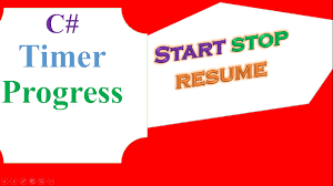 Resume To Start Again C Timer And Progressbar Start Resume Stop Reset Youtube