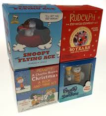 lot 4 peanuts charlie brown christmas tree snoopy flying ace