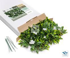 faux birch w flowers expandable trellis natrahedge