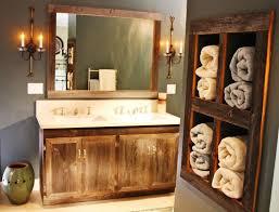 rustic bathroom vanities with a built in sink u2014 cabinets beds