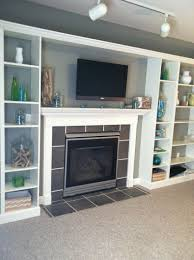 ikea fireplace hack faux built in billy bookcase ikea hack shelves room and
