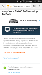Ford Sync Map Update Sync Update Mustang Evolution
