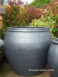 extra large glazed pot gun metal collar planter woodside garden