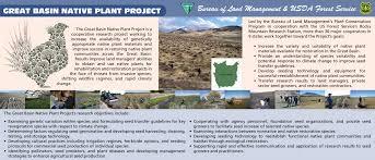 native plant restoration brochure u0026 posters u2014 the great basin native plant project