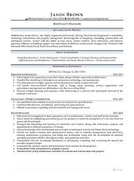 Areas Of Improvement In Resume Hospitality Resume Examples Resume Professional Writers