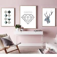 geometric home decor sle geometric shape canvas art print painting poster wall