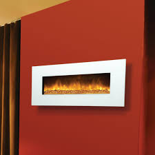 Wall Mounted Fireplaces by Amantii 50 Inch Wall Mount Electric Fireplace White Glass Wm