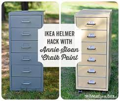 Chalk Paint On Metal Filing Cabinet Ikea Hack Helmer Drawer Set Chalk Paint Ikea Hack And Metals