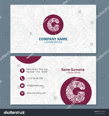 business card visiting card template logo stock vector 397392253