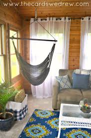 Room Hammock Chair Indoor Patio Makeover Final Reveal The Cards We Drew