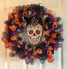 sugar skull wreath day of the dead wreath deco mesh sugar