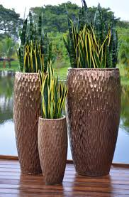 Outdoor Pots And Planters by The Pottery Patch Metallic Copper Tall Egg Garden Planters